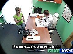 Fakehospital tóc vàng tuyệt đẹp muốn bác sĩ vòi nước trong cô